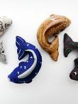 Koi Fish ceramic bead individually handmade and hand-painted in Peru