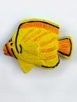ceramic tropical fish bead - handmade and painted in Peru