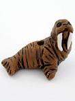 ceramic walrus bead - handmade and painted in Peru