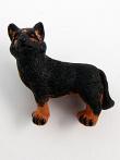 ceramic German Shepherd dog bead - handmade and painted in Peru
