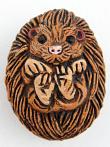 ceramic hedgehog bead - handmade and painted in Peru