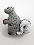 ceramic squirrel bead - handmade and painted in Peru