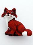 ceramic fox bead - handmade and painted in Peru