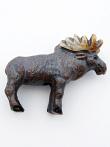 ceramic moose bead - handmade and painted in Peru