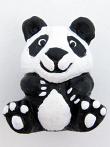 ceramic panda bear bead - handmade and painted in Peru