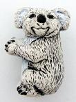 ceramic koala bear bead - handmade and painted in Peru