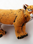 ceramic mountain lion bead - handmade and painted in Peru