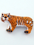 ceramic tiger bead - handmade and painted in Peru