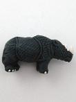 ceramic rhinoceros bead - handmade and painted in Peru