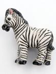 ceramic zebra bead - handmade and painted in Peru