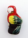 ceramic parrot bead - handmade and painted in Peru