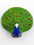 ceramic peacock bead - handmade and painted in Peru