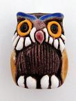 ceramic owl bead - handmade and painted in Peru