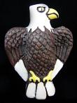 ceramic brown eagle bead - handmade and painted in Peru
