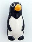 ceramic penguin bead - handmade and painted in Peru