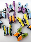 assorted ceramic butterfly beads - handmade and painted in Peru