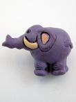 ceramic purple elephant bead - handmade and painted in Peru