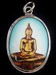 Seated Buddha enamel diety pendant
