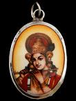 Krishna enamel deity pendant