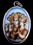Vishnu & Lakshmi enamel deity pendant