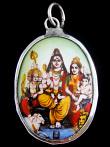 Shiva enamel deity pendant