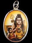 Shiva and baby Krishna enamel deity pendant