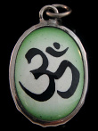 Om enamel deity pendant, the sound of the universe and a symbol of peace and unity