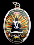 Tibetan Rainbow Yab-Yum. Buddha and his Escort in Sacred Union.