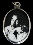 Dr. Martin Luther King, Jr. enamel deity pendant