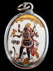 Kali enamel deity pendant, the goddess of mysteries and destruction