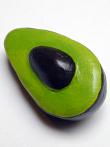 handmade and hand-painted Peruvian ceramic avocado bead