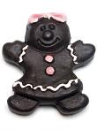 handmade and hand-painted Peruvian ceramic dark gingerbread girl bead
