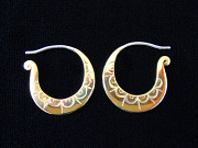 Handcrafted brass earrings with sterling silver earwires