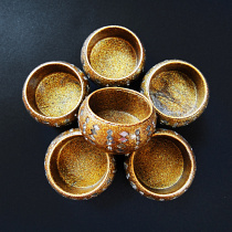 sparkling Sunlight tea light candle holders, pack of 6 handmade in India