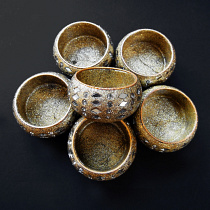 sparkling Starlight tea light candle holders, pack of 6 handmade in India