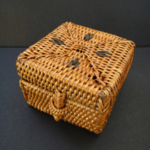 Small handwoven rattan baskets from Lombok, Indonesia