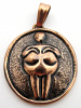 Pure copper amulet pendant featuring an interpretation of the ancient Willendorf Goddess