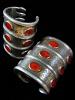 Pair of three-tiered Turkoman Cuffs