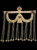 front view of Antique Afghani Gilded Silver Ornament