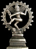 Dancing Natraj brass deity statue, the lord of the dance