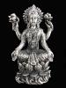 seated Lakshmi brass deity statue, the Goddess of abundance and prosperity