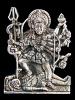 Kali brass deity pendant, the goddess of mysteries and destruction