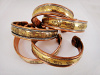 a typical assortment of wide copper magnetic cuffs