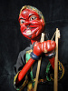 traditional wayang golek puppet Cepot from the Ramayana. Handmade in Java, Indonesia