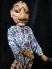 traditional wayang golek puppet Juru Meya from the Mahabharata. Handmade in Java, Indonesia