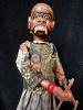 traditional wayang golek puppet Kokrosono from the Ramayana. Handmade in Java, Indonesia