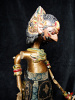 traditional wayang golek puppet Wijakseno from the Mahabharata. Handmade in Java, Indonesia