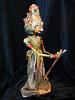 traditional wayang golek puppet Basudewa from the Mahabharata. Handmade in Java, Indonesia