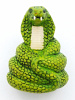ceramic snake bead - handmade and painted in Peru