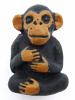 ceramic chimpanzee bead - handmade and painted in Peru